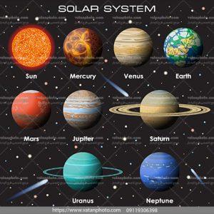 وکتور منظومه شمسی