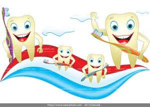 وکتور دندان شاد تم دندانی