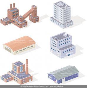 مجموعه وکتور سه بعدی شرکت