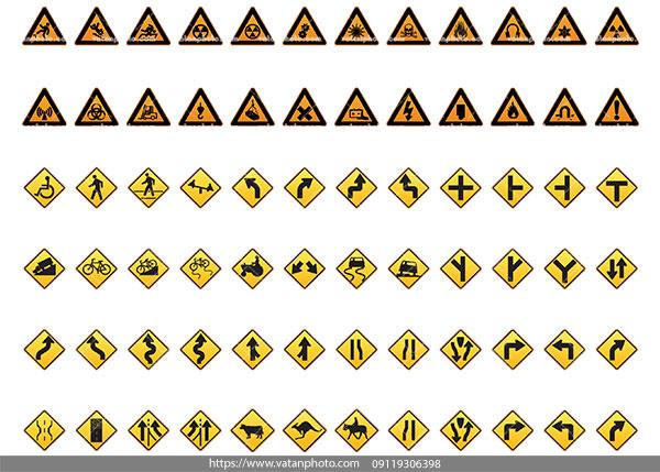 وکتور علائم خطر رانندگی