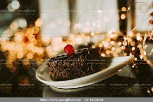 عکس کاپ کیک شکلاتی