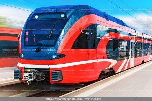 عکس قطار مسافربری مدرن