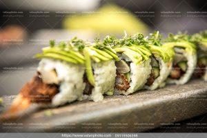 عکس خوراک سوشی سبزیجات