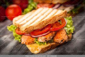 عکس ساندویچ مرغ برگر