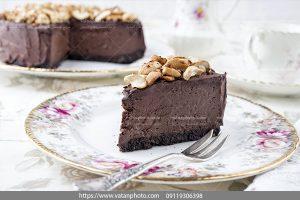 عکس کیک تمام کاکائویی بادام