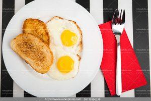 عکس صبحانه نیمرو