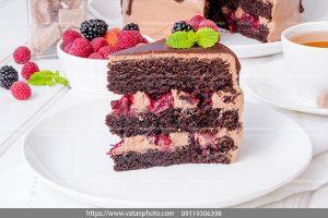 عکس کیک لایه میوه ای