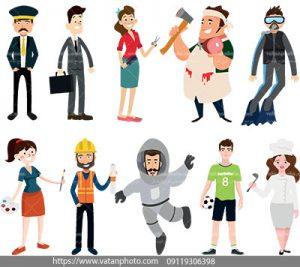مجموعه 10وکتور ازشخصیت های انسانی