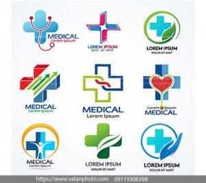 مجموعه وکتور لوگو پزشکی مدرن
