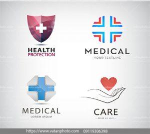 مجموعه وکتور لوگوی حفاظت پزشکی