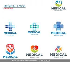 مجموعه وکتور لوگو تخصص پزشکی