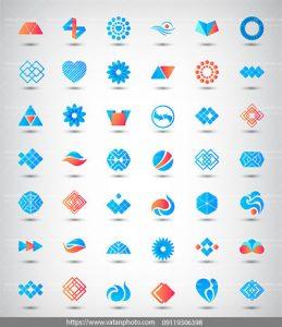 مجموعه وکتور لوگوهای ترکیبی زیبا