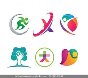 مجموعه وکتور 6 لوگو با طراحی ویژه
