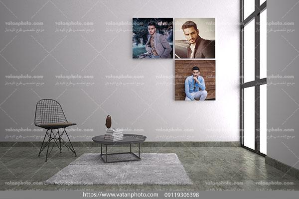 موکاپ 3 تابلو عکس