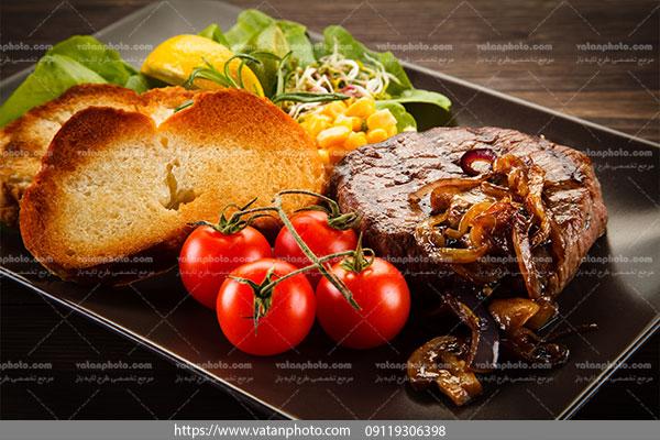 دانلود عکس اسنک گوشت خالص گوساله