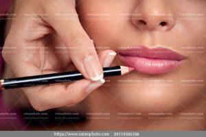 دانلود عکس آرایش حرفه ای خط لب