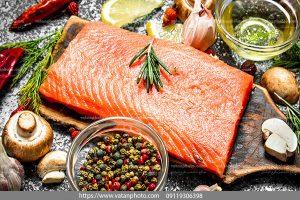دانلود عکس گوشت خالص ماهی گرم آبی