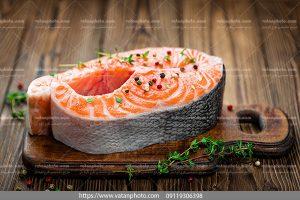 دانلود عکس یک تکه ماهی گوشت قرمز