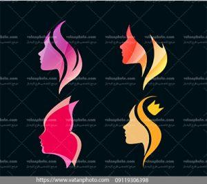 مجموعه وکتور آرایشگاه زنانه