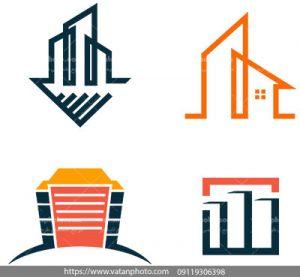 مجموعه وکتور لوگو سازه های ساختمانی