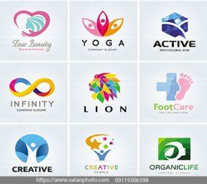 مجموعه وکتور لوگو طراحی رنگ بندی