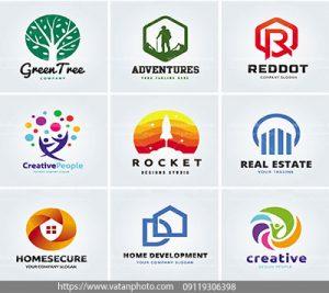 مجموعه وکتور لوگو با طراحی حرفه ای