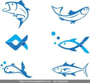 مجموعه وکتور لوگو پرورش ماهی تن