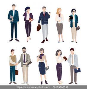 مجموعه وکتور فلت روابط کاری افراد