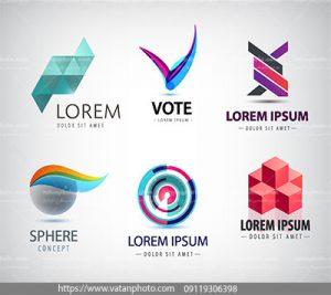 مجموعه وکتور لوگو های طراحی مدرن