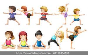 مجموعه وکتور ورزش کودکان