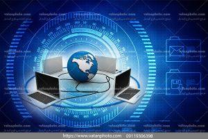 عکس کامپیوتر های شبکه شده