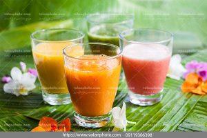 عکس آبمیوه پرتقال و هندوانه