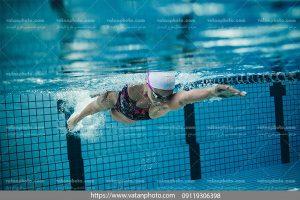 عکس شناگر