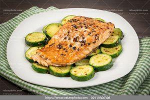 عکس ماهی و کدو سبز