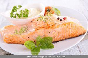عکس غذا ماهی سرخ شده