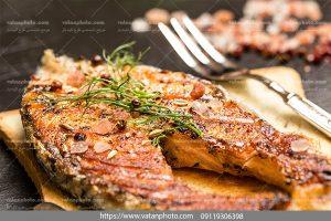 عکس ماهی سرخ شده رستوران
