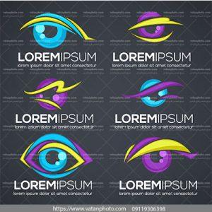 مجموعه وکتور لوگوی چشم