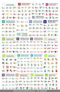 مجموعه بیش از 100 وکتور لوگو