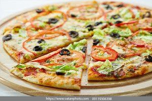 عکس پیتزا سبزیجات