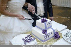 عکس کیک با طرح گل بنفش