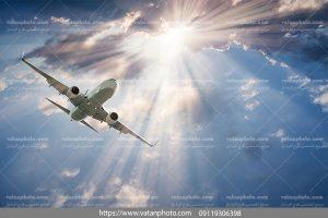 عکس با کیفیت هواپیما در هوا