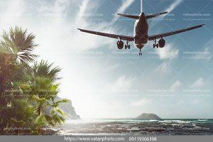 عکس هواپیما در ساحل تفریحی