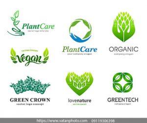 وکتور لوگو محافظت از گیاهان
