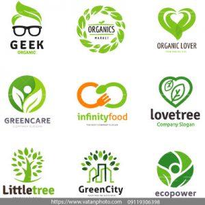 وکتور لوگو سلامت محیط زیست
