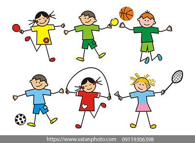 وکتور کودکان در حال بازی
