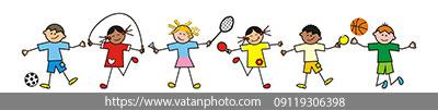 وکتور کودک ها در حال بازی
