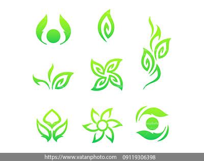 وکتور برگ سبز