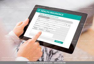 عکس لیست خدمات بیمه