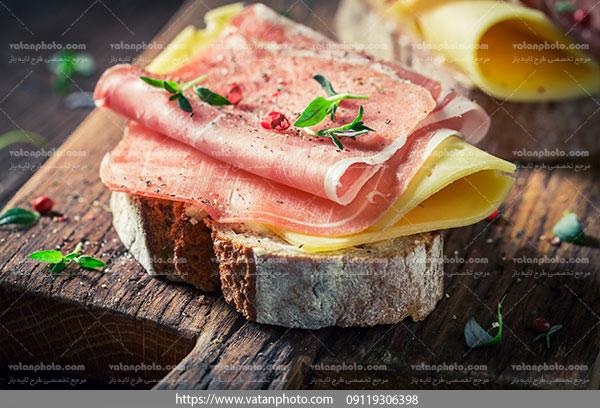عکس ژامبون با پنیر