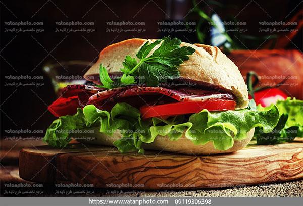 عکس ساندویچ سبزیجات